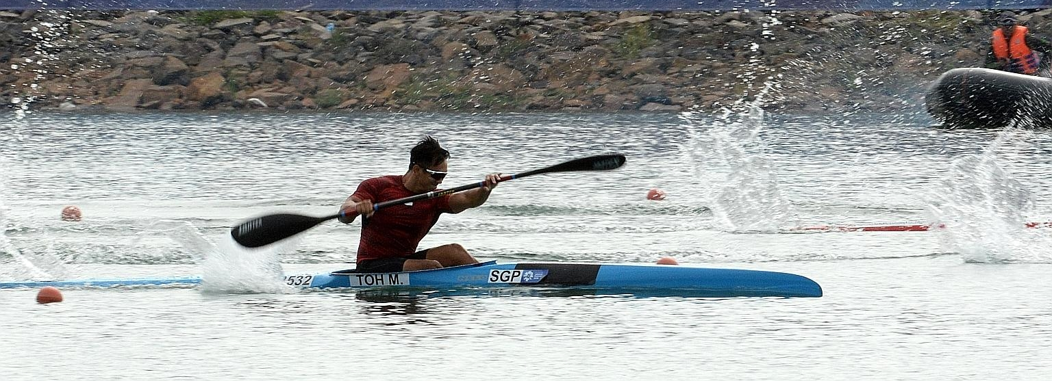 The Straits Times: Mervyn Toh wins first canoeing medal for Singapore with K1 200m bronze