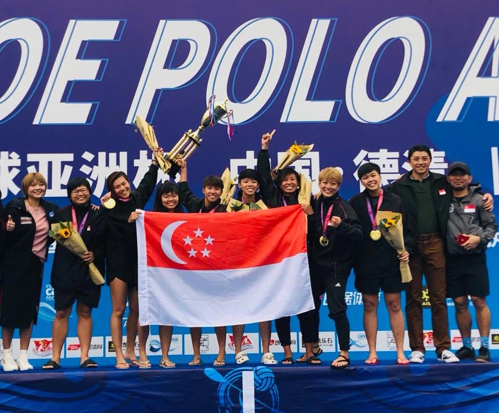 Team Singapore brings home Gold from the 2019 Canoe Polo Asian Cup
