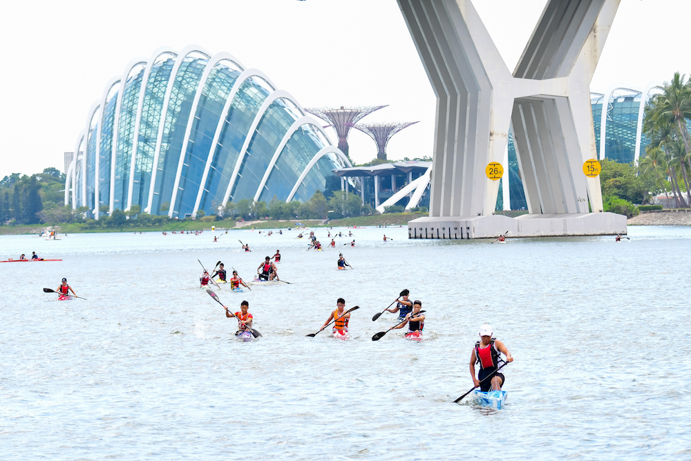 Over 90 participants for the debut of Stand Up Paddling at 2020 Singapore Canoe Marathon